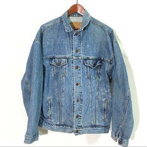 Levi's vintage trucker orange tab jean jacket